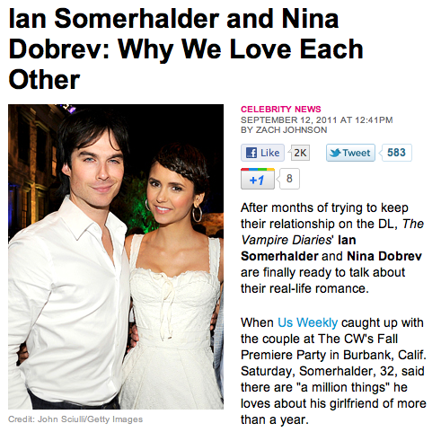 IAN COMFIRIMING THEY ARE DATING!
