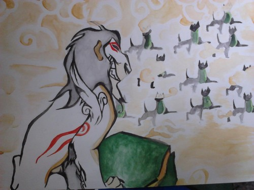 The Lion King crossed with Okami
