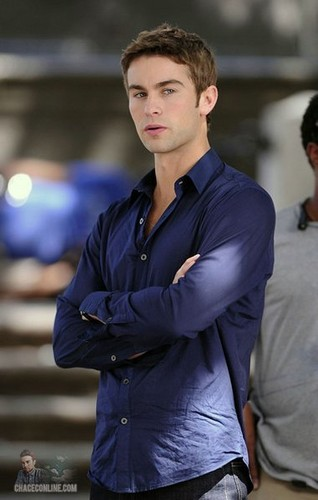 Chace - Gossip Girl - Behind the Scenes, Central Park - September 01, 2011