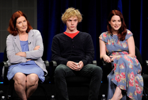 Frances Conroy, Evan Peters & Alexandra Breckenridge @ the FX 2011 TCA Press Tour