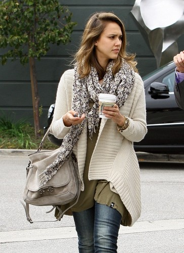 Jessica - Leaving Tavern Restaurant in Brentwood - October 19, 2011