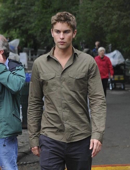 Nate - Gossip Girl - Behind the Scenes - August 16, 2011