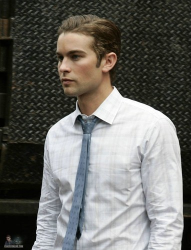 Nate - Gossip Girl - Behind the Scenes - July 28, 2011