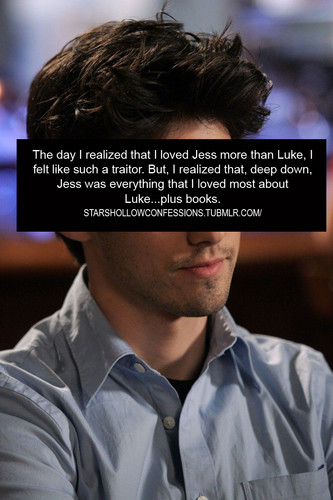 Stars Hollow Confessions - Jess is Luke plus books <3