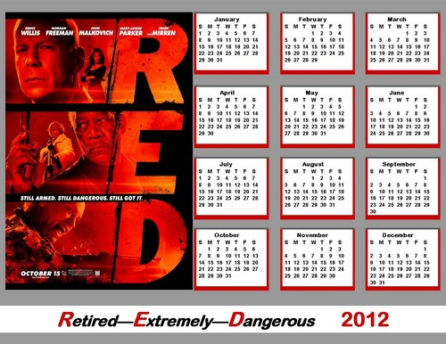 2012 Bruce Willis - RED Calendar