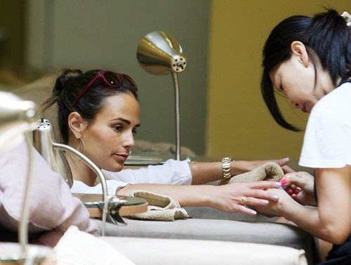 Jordana - At the Bellacures Nail Salon in Beverly Hills, August 9. 2011