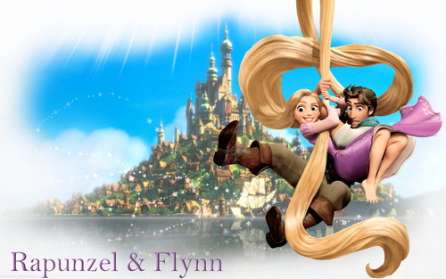 Rapunzel and Flynn