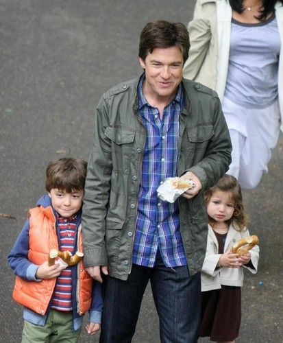 Jason Bateman, Thomas Robinson and Francesca Bateman