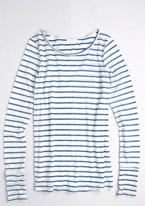 Sall Long-Sleeve Stripe Tee