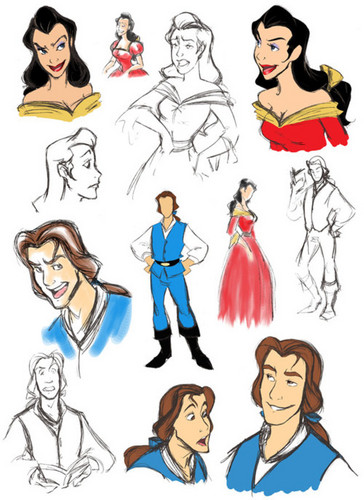 belle and gaston gender bender