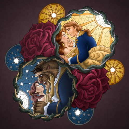 An incredible Belle and The Beast  Mosaic