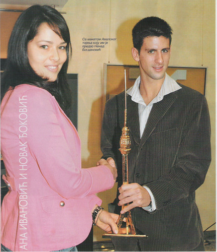 Djokovic and Ivanovic love