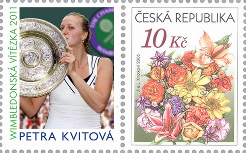 Petra Kvitova and her stamp