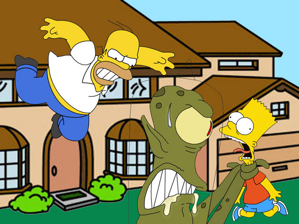 bart and homer simpson
