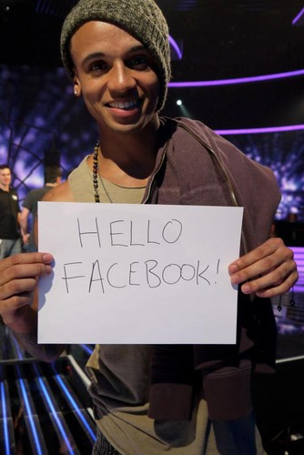Aston saying hi to facebook