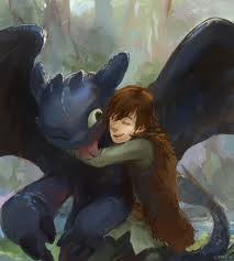 Hiccup and Toothless-SO cute