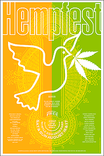 Seattle Hempfest 2003 Poster by Sheehan