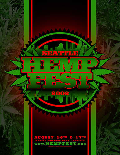 Seattle Hempfest 2008 Additional Poster