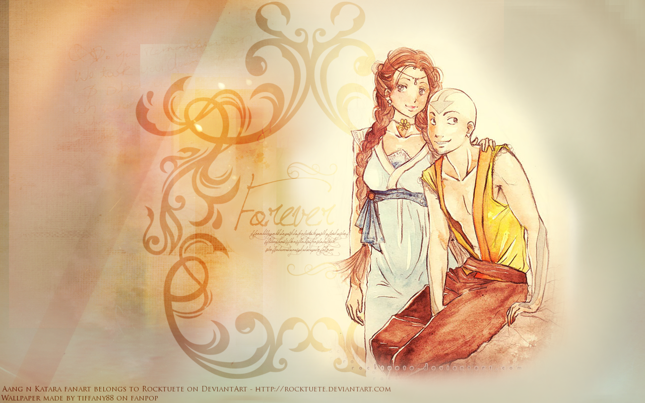Aang And Katara Avatar The Last Airbender Wallpaper
