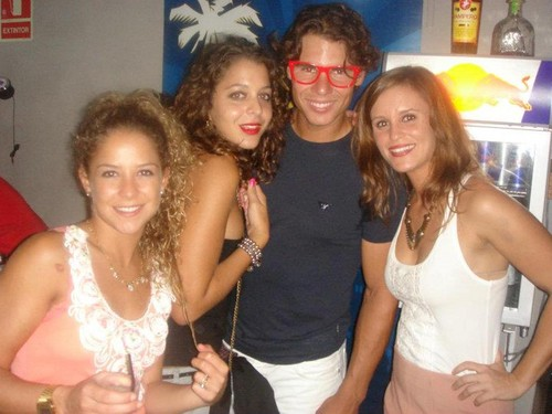 rafa red glasses