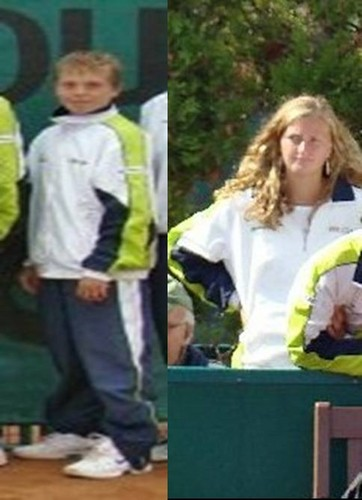Kvitova (17) and Pavlasek (12) in 2007