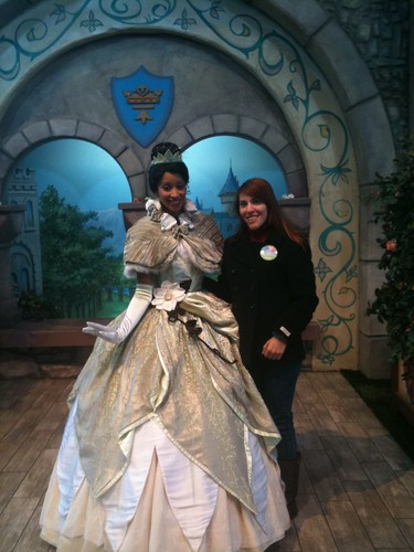 Meeting Tiana at Disneyland (California)