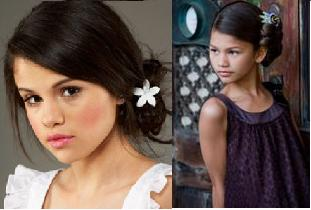 Selena & Zendaya hairstyle look-a-like