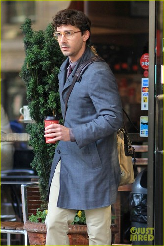 Shia LaBeouf on Tuesday (November 15) in Vancouver, British Columbia, Canada.
