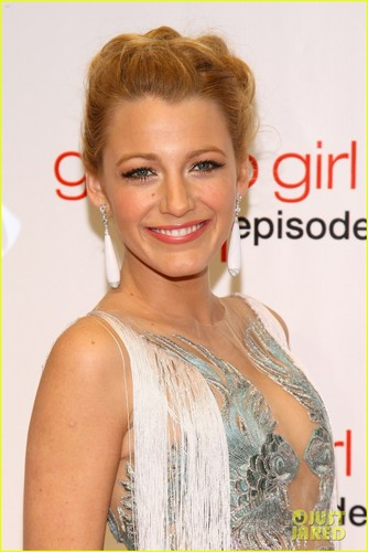 Blake Lively on the red carpet for the Gossip Girl 100th episode (November 19) in New York City