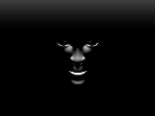 Face in the Blackness Wallpaper