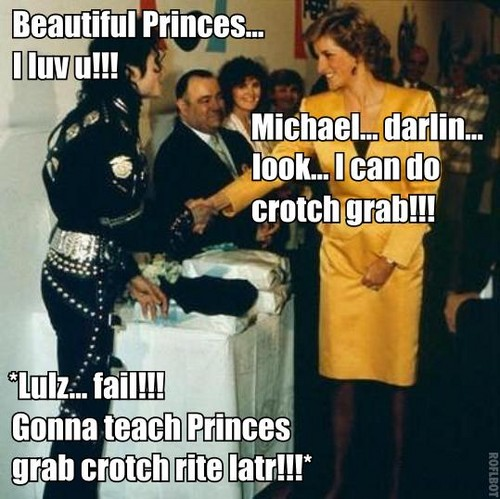 Princess Diana and Michael.