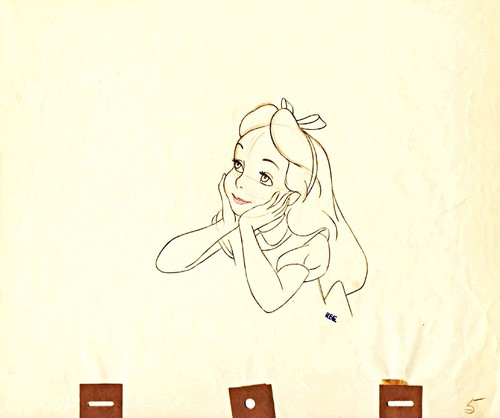 Walt Disney Sketches - Alice