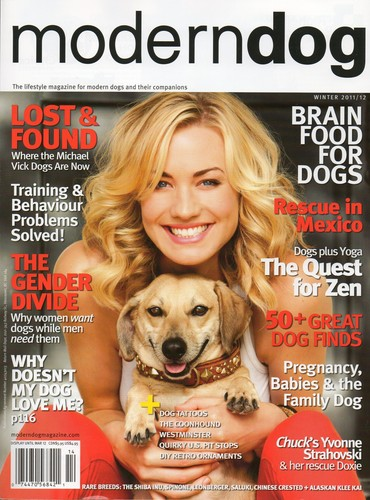 Yvonne Strahovski on the Cover of the Winter 2011/2012 Issue of 'Modern Dog'