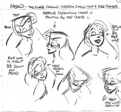 Walt Disney Model Sheets - Princess Ariel