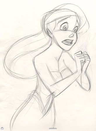 Walt 디즈니 Sketches - Princess Ariel