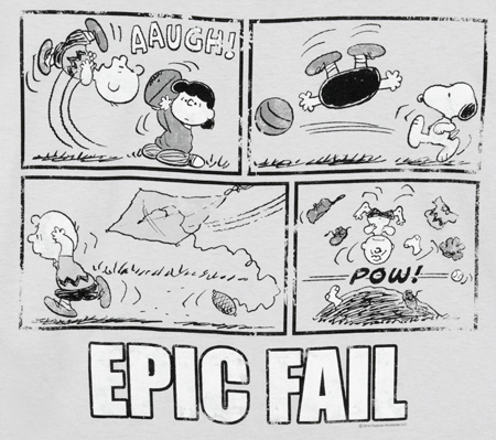 Charlie Brown's Epic Fails