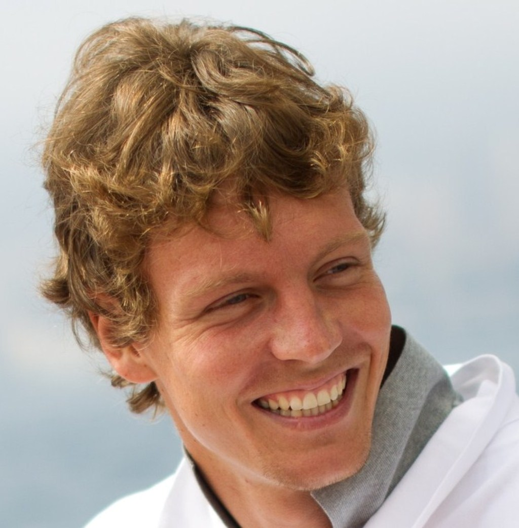 Tomas Berdych with curly blonde hair