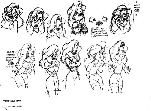 Walt disney Model Sheets - Roxanne