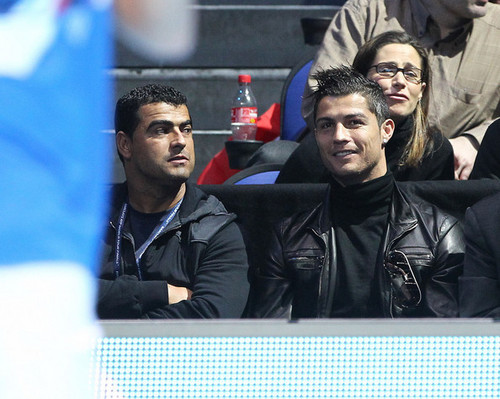 C. Ronaldo watching tennis
