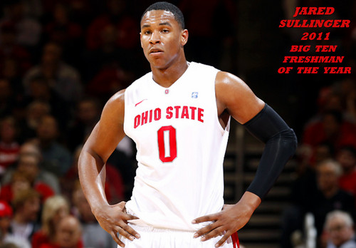 JARED SULLINGER B1G FRESHMAN OF THE jaar 2011