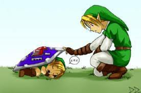 Link and Toon link (SO CUTE!!)