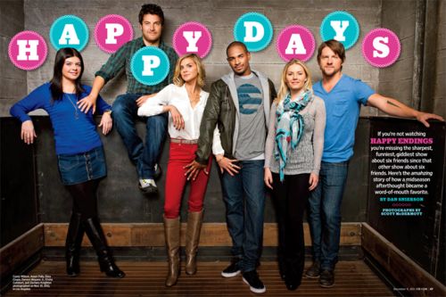 'Happy Endings' Cast Photoshoot for Entertainment Weekly