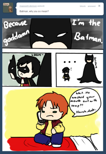 Because hes batman