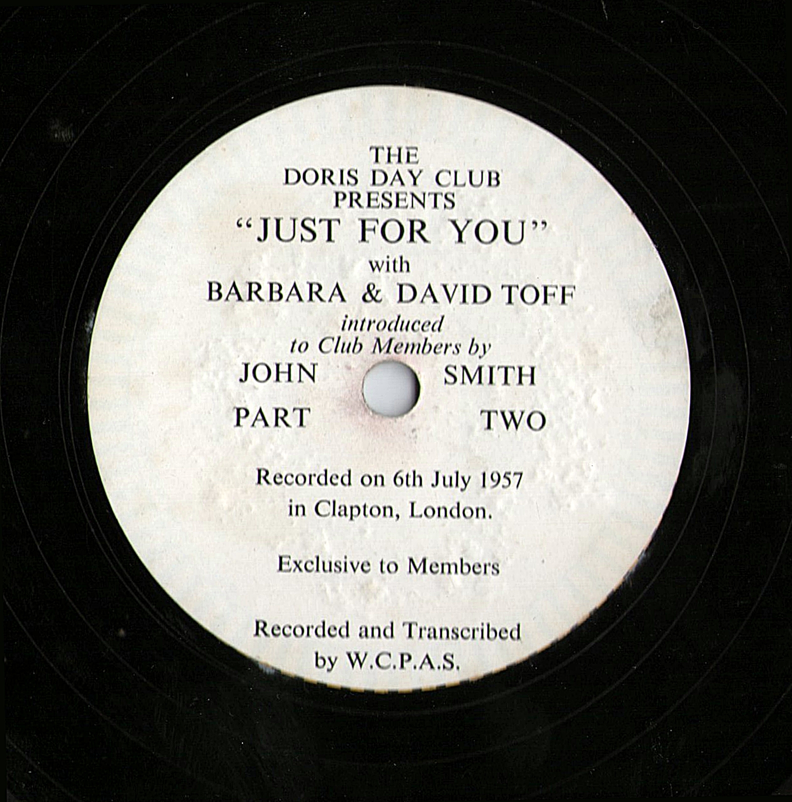 Doris Day Fan Club LP