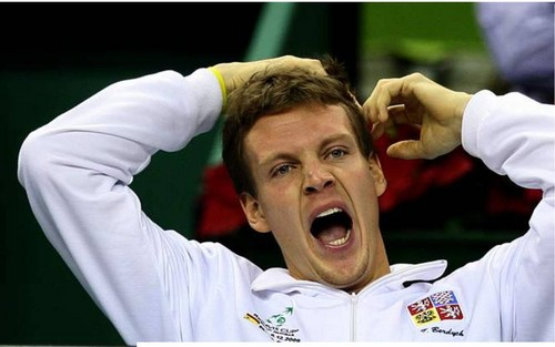 Tomas Berdych funny photo !