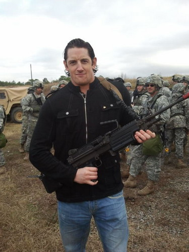 Wade Barrett at Tribute to the Troops