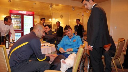 Villa's arrival at the hotel