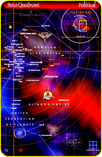 «Map Space of the Beta - Quadrant» [ «Star Trek Universe» ]