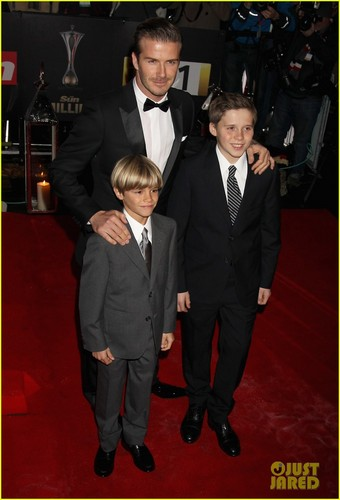 David Beckham: Military Awards with Brooklyn & Romeo!