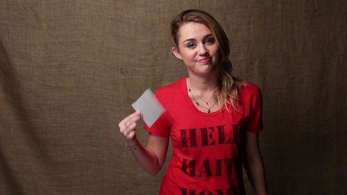 Miley - Help Haiti home Super Give Away